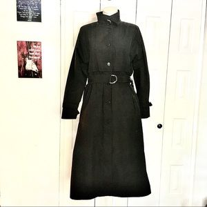 LONDON FOG buckle high neck classic trench coat